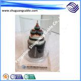 Средств напряжение тока/Zero галоид низкое Smoke/XLPE Insulated/PE обшили кабель Armored/экранированного/электропитания