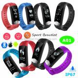 Wristband Bluetooth intelligentes Armband mit gesundem Monitor und wasserdichtem A01
