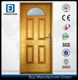 Porta exterior India da casa de campo da entrada da parte dianteira superior clássica da fibra de vidro de Prehung do ofício da mão