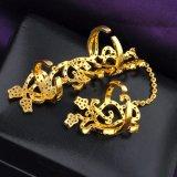 Braccialetto unico R893 della palma di disegno di modo della donna placcato oro reale