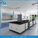 Biologie-Laborstahl-und -holz-Insel-Prüftisch