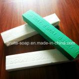 1kg Staaf van de Zeep van de Wasserij van de 1.5kg de Witte/Groene Kleur voor de Markt van West-Afrika