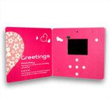 Брошюра для промотирования тавра, рекламируя, карточка видео- карточки LCD Greetng