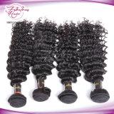 Cheveu profond brésilien d'onde de couleur des cheveux de Brown d'être humain de 100%
