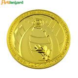 주문을 받아서 만들어진 금속 금 도전 기념품 동전