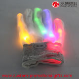 Materielle Halloween-Partei-Produkt-Nylonfarbe, die LED-Handschuhe ändert