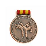 새로운 디자인 리본을%s 가진 싼 관례 3D 아연 합금 Taekwondo 스포츠 메달
