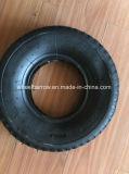 ثقيل - واجب رسم 3.50-4 مطاط [هند تروك] عجلة إطار العجلة مع فولاذ حافّة عربة يد إطار