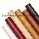 El patrón de la madera de melamina papel decorativo impregnado en la superficie de la junta