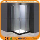 Tela de chuveiro de vidro de banheiro popular de luxo (ADL-8A62)