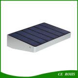 Luz al aire libre solar de aluminio pasada larga de la lámpara 48LEDs del jardín del sensor de la batería brillante estupenda 4000mAh