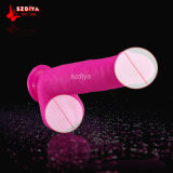 100% Silicone Realistic Dildo Robustesse Suction Cup Sex Toy (DYAST421)