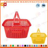 Plastiksupermarkt-Einkaufen-Handplastikkorb (ZHb174)