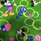 Mickey Mouse, assestamento, poliestere 100% 75*100d, 190t/210t, prodotto intessuto, usato per le tessile domestiche, tessuto stampato
