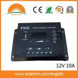 (HME-10A-2) controlador solar de 12V 10A para o sistema solar da fora-Grade