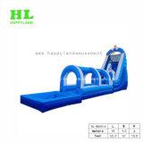 Diapositiva de agua inflable de 2 carriles para el juego de los cabritos