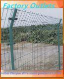 電流を通されたPVCによって塗られる溶接された金網の農場の塀