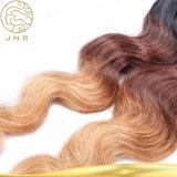 安い卸売100%の未加工バージンのRemyブラジルの人間カラー毛