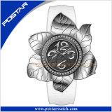 Montre-bracelet Fleur-Shaped Psd-2377 de quartz de montre de dames de mode neuve de type