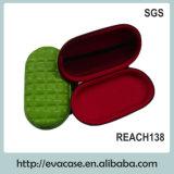 Cassa di visualizzazione cosmetica di cuoio verde dell'unità di elaborazione EVA con la gomma piuma di EVA