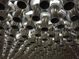 Tube d'ailette composé double en métal inoxidable et en aluminium