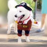Beau vêtement de costume de pirate d'animal familier pour des crabots et des chats