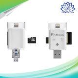 Velocidade alta Idrive Unidade Flash USB do leitor de cartão para iPhone/Android Market