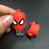 Movimentação personalizada Spider-Man do flash do USB do silicone dos presentes 3D