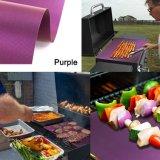 卸し売り紫色BBQのグリルのマット