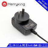 S-MARK genehmigte 18V 300mA AR Stecker-Wand-Montierung Wechselstrom-Gleichstrom-Adapter mit freien Proben
