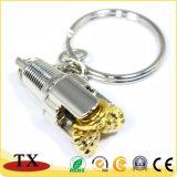 Goldene Bohrmeißel-Schlüsselkette des Erdöl-3D Aiguille