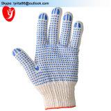 Средства личной защиты 65g ПВХ пунктирной хлопка безопасности стороны перчатки