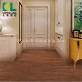 Imperméable à texture lâche de luxe de jeter un revêtement de sol de planches en vinyle PVC Tile, ISO9001 Changlong Clw-05
