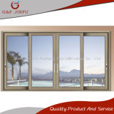 Portello scorrevole di vetro di alluminio resistente di grande vista doppio