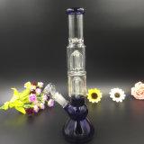 Os tubos de água em vidro colorido Bontek Cachimbos azul