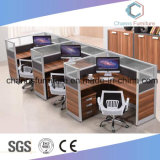 Station de travail de bureau moderne de 8 places avec Armoire mobile