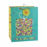 Bolsas de papel verdes del regalo del juguete del supermercado del recuerdo de la flor del cumpleaños