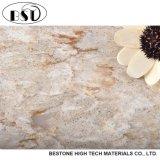 Folhas artificiais de imitação de mármore populares da pedra de quartzo
