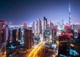 Modernes Stadt-Nachtbrücken-Landschaft-Licht-Kunst-Segeltuch druckt Ölgemälde