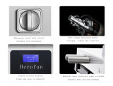 Fechamento de porta de vidro do código secreto da impressão digital esperta