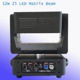 25pcs 12W LED à matrice de feu de route de la tête mobile