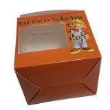 習慣によって印刷される光沢のあるケーキの紙箱