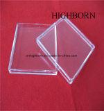 Plato de Petri claro de pulido del cuarzo del rectángulo de la alta calidad con la cubierta