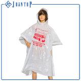 Poncho en plastique Non-Disposable de pluie de l'impression du gosse de promotion