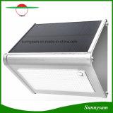 El sensor de radar de microondas de aluminio de 24 solares de jardín de pared LED impermeable de la luz exterior