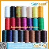 Poliéster 100% colorido linha encerada para os produtos de couro