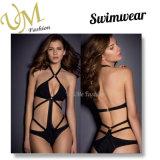Form-Entwurfs-kundenspezifischer schwarzer Badeanzug-reizvolle Bikini-Badebekleidung