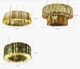 Lámpara de interior del cristal del diseñador de la lámpara pendiente del acero inoxidable del proyecto LED