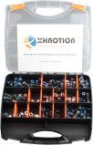 Xhnotion 4mm, 6mm, 8mm, 10mm pneumatische die Luft-Plastikbefestigung Drücken-zu-Schließen passenden Installationssatz 134 Stück an