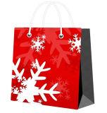 BSCI, bolsos de empaquetado de la Navidad del Fsc del regalo barato del papel para el conjunto con las manetas